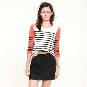 J.Crew Colorblock Stripe Top Shirt 3/4 Sleeves